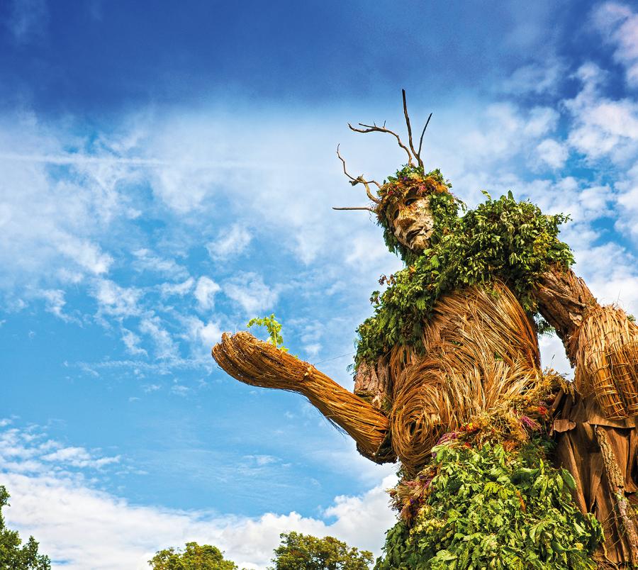 The Greenman © Hawlfraint y Goron © Crown copyright (2019) Cymru – WALES