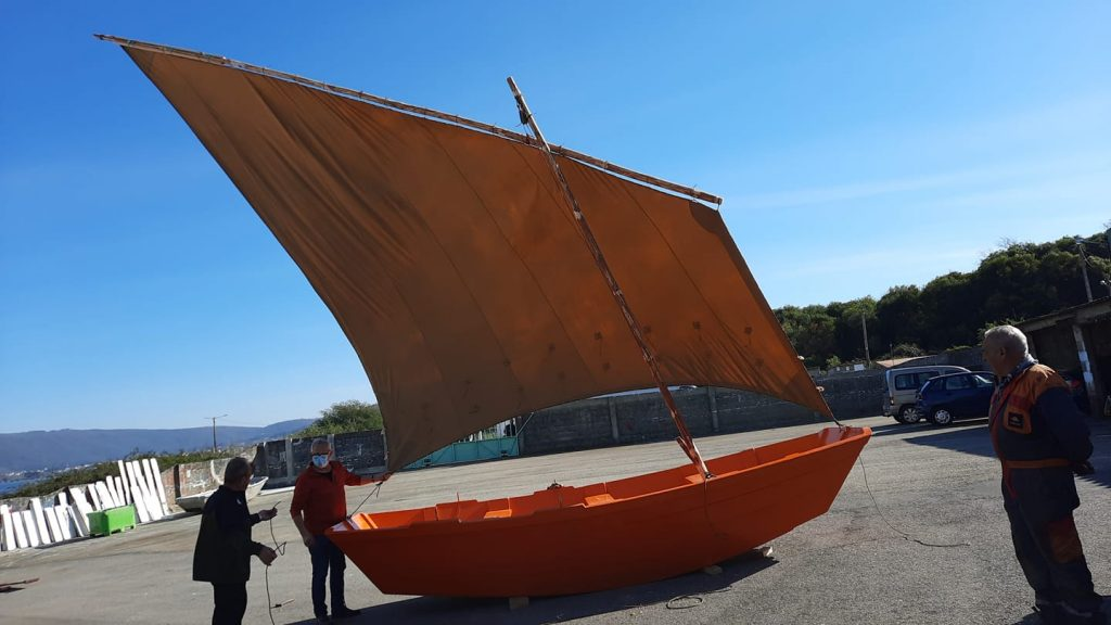 Gamela. Traditional boat of A Guarda